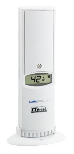 TFA Dostmann Thermo-Hygro-Sender mit Display, 30.3180.IT, für TFA Klimalogg Pro