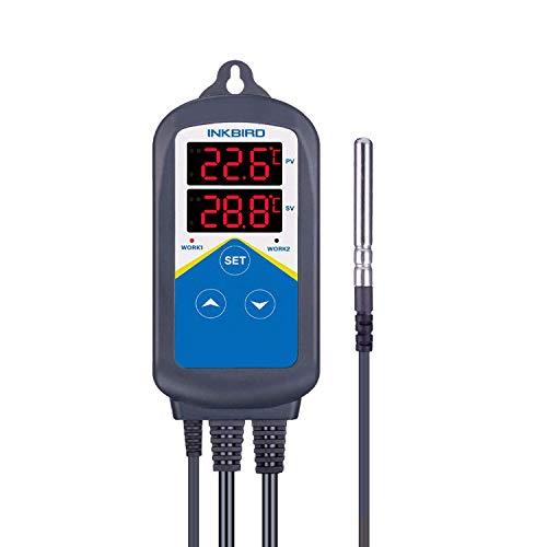 Inkbird ITC-306T 230V Steckerthermostat mit Externer Sonde,Temperaturkalibrierung für Inkubator Hühner Reptilien Heizmatte Terrarium