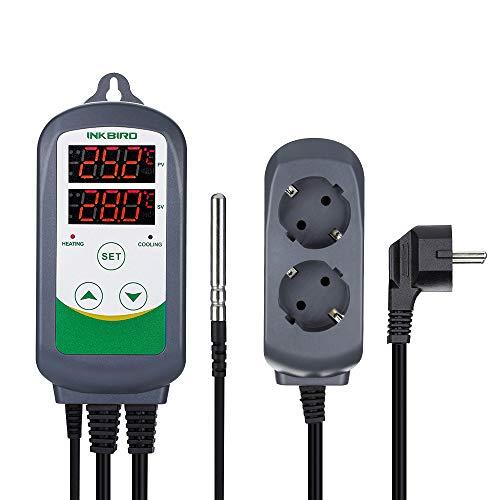 Inkbird ITC-308 Temperatur Steuerung Steckdosen 220V Thermostat mit NTC Sensorsonde für Gewächshaus Reptilien Terrarium*