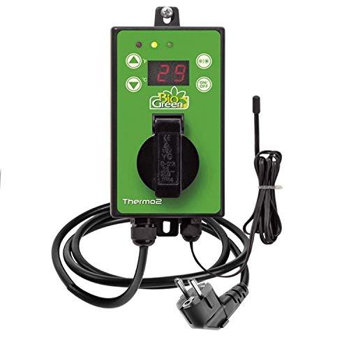 Bio Green Digital-Thermostat, grün, mit Sommer/Winter funktion IP X4 spritzwassergeschützt*