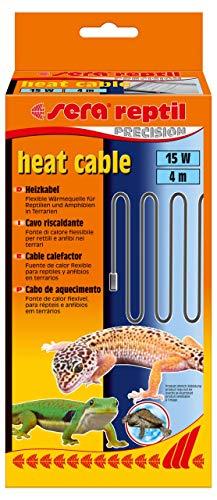 sera 32008 reptil Heat Cable (4 m) 15 W, Heizkabel für Terrarien, Silikonkabel Spritzwasser- & Krallenresistent
